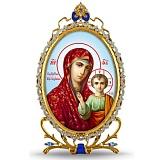 Серебряная икона с образом Казанской Богоматери