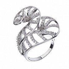 Серебряное кольцо с фианитами Танец страсти