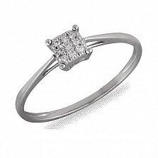 Кольцо Ребекка из белого золота с бриллиантами