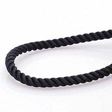 Шелковый шнурок Спаси и сохрани с серебряной застежкой, 3мм