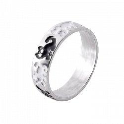 Серебряное кольцо Коты Саймона с черной и белой эмалью 000064190