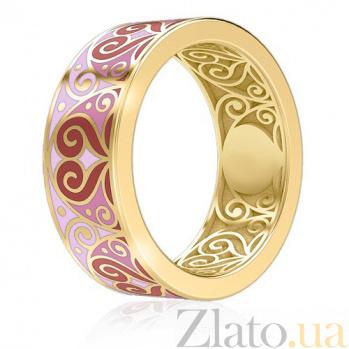 Золотое обручальное кольцо Талисман Любви 1454