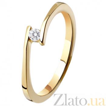 Золотое кольцо с бриллиантом Секрет KBL--К1571/крас/брил
