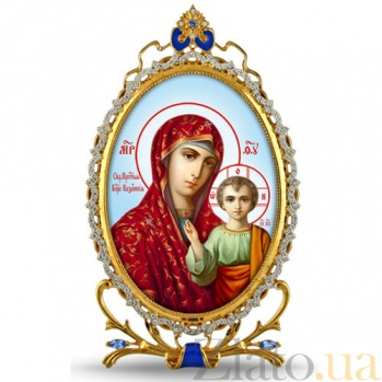 Серебряная икона с образом Казанской Богоматери 2.78.0304