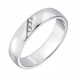 Обручальное кольцо из белого золота с бриллиантами 000126327