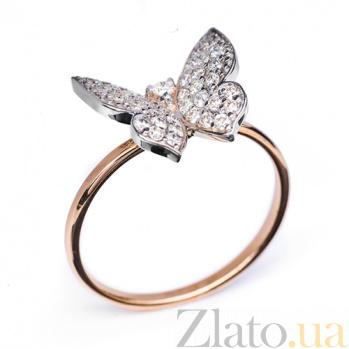 Кольцо из красного золота с бриллиантами Кокетка R0292