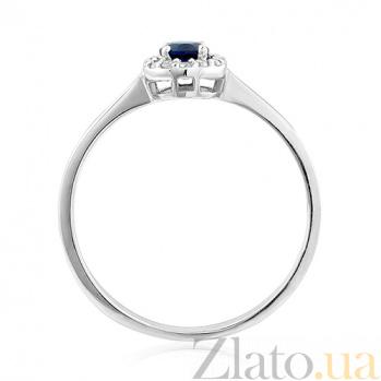 Кольцо из белого золота с сапфиром и бриллиантами Эвредика EDM--КД7554/1САПФИР