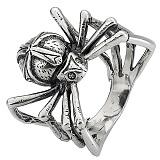 Серебряное кольцо Паук