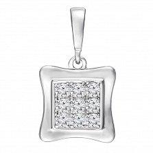 Золотой кулон Айрин в белом цвете с бриллиантами