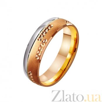 Золотое обручальное кольцо Венчание сердец TRF--4411034