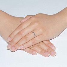 Кольцо из белого золота с бриллиантом Истинная элегантность