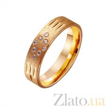 Золотое обручальное кольцо с фианитами Княжество TRF--412460