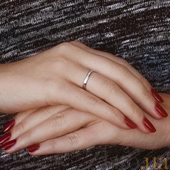 Кольцо Делайла в белом золоте с бриллиантами SVA--1100971202/Бриллиант