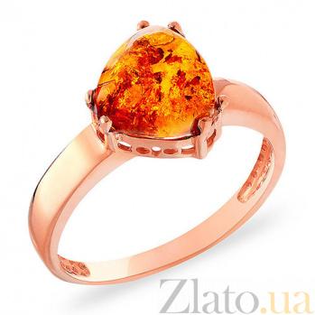 Кольцо из красного золота с янтарем Эмбер SUF--153292