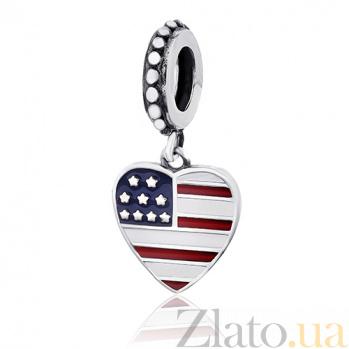 Серебряный шарм USA 000028739