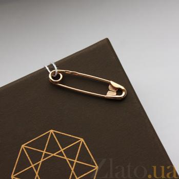 Серебряная булавка золочёная Классика 000013407