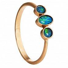 Золотое кольцо Афины с опалом