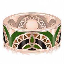 Мужское обручальное кольцо Талисман: Жизни с эмалью