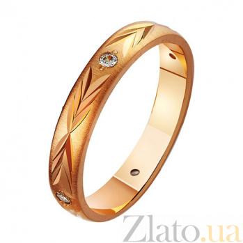 Золотое обручальное кольцо с фианитами Царство любви TRF--42060