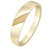 Золотое кольцо в желтом цвете Базис
