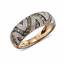 Кольцо в красном золоте Бренда с бриллиантами