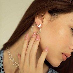 Серебряные серьги-пуссеты 000141118