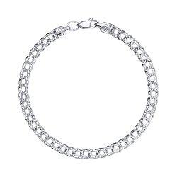 Серебряный браслет в плетении бисмарк, 5мм 000118139