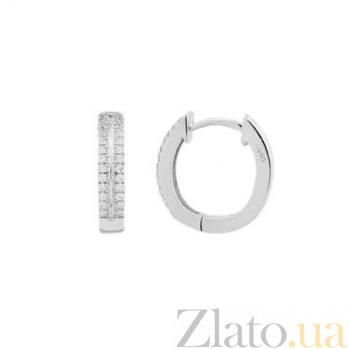 Серебряные серьги-кольца Бриджит AQA--E0050