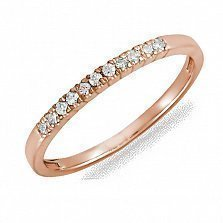 Кольцо из красного золота Жаклин с бриллиантами