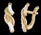 Серебряные серьги с позолотой и фианитами Кэндис SLX--С3Ф/076