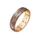 Золотое обручальное кольцо Страстное танго с фианитами
