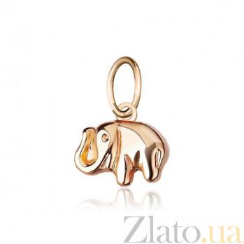 Золотая подвеска Индийский слон EDM--П0104
