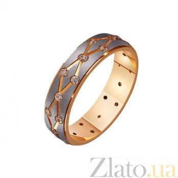 Золотое обручальное кольцо Страстное танго с фианитами TRF--412216