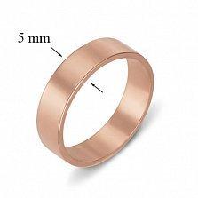 Кольцо обручальное из красного золота Классический стиль
