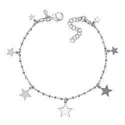 Серебряный браслет с подвесками-звездами 000138491