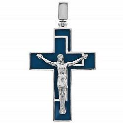 Серебряный крестик с эмалью 000048503