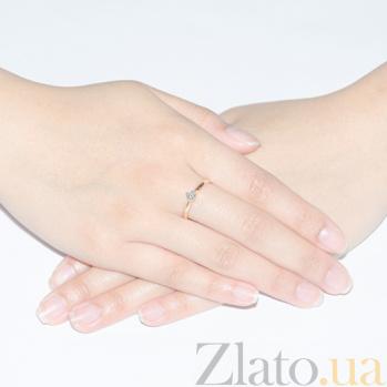 Золотое кольцо с бриллиантом Грация KBL--К1025/крас/брил