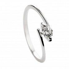 Кольцо из белого золота с бриллиантом Дороти