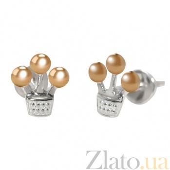 Серебряные серьги Маленькая корона BGS--826/1