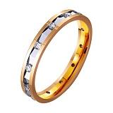 Золотое обручальное кольцо с фианитами Прекрасное мгновение