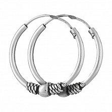 Серебряные сережки-конго Заира