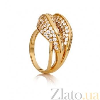 Золотое кольцо с фианитами Теодора 000030602