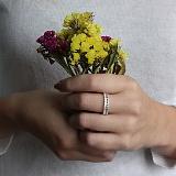 Серебряное кольцо Агата с прозрачными фианитами