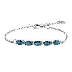 Серебряный браслет с синим кварцем 000137460