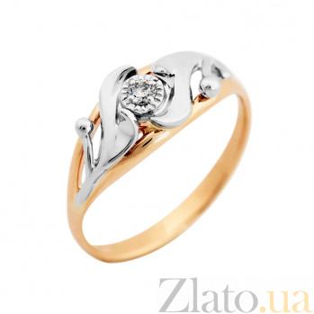 Золотое кольцо с бриллиантом Сказка VLA--15880