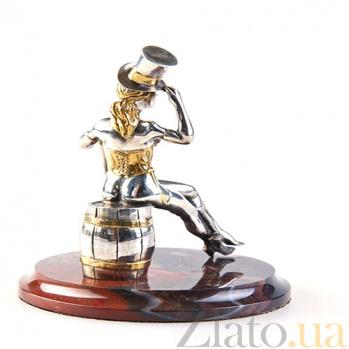 Серебряная статуэтка с позолотой Танцовщица кабаре 892
