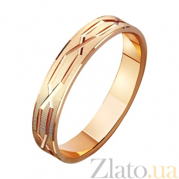 Золотое обручальное кольцо Соединение сердец TRF--411074