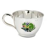 Серебряная чашка Дракоша с эмалью