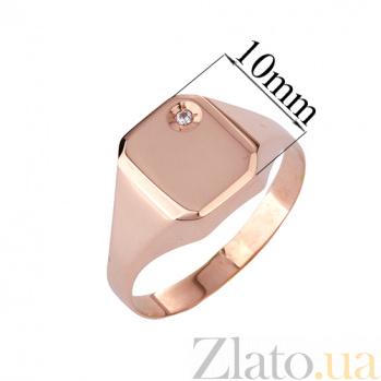 Золотое кольцо-печатка с фианитом Пабло ONX--к02941