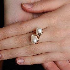 Золотое кольцо с жемчугом Оксания